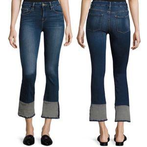 FRAME LeCrop Mini Boot Reverse Overlock Cuff Jeans